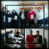 اهداء سومین کتاب پایگاه مددکاران اجتماعی به مدیرکل بهزیستی کرمانشاه